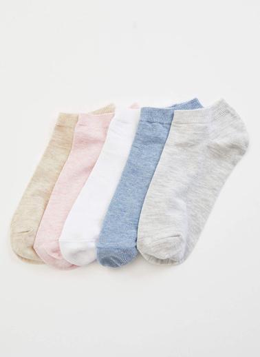 DeFacto 5'li Kısa Çorap Renkli